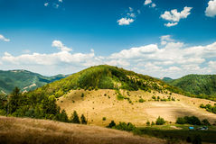 Hill during the sunny day Royalty Free Stock Photos