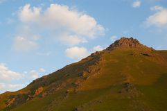 Hill at sunrise Royalty Free Stock Photo
