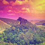 Hill at Sunset Royalty Free Stock Image