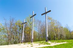 Hill of the Three Crosses in Kazimierz Dolny. Hill of the Three Crosses in Kazimierz Dolny, Poland Stock Photos