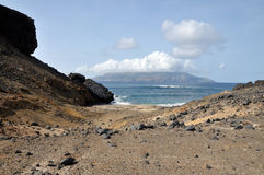 Hill to beach and Brava Stock Photo