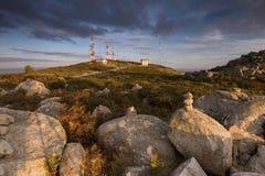 Hill top of Foia, Monchique. Landscape view of hill top of Foia in Monchique, Portugal stock photo