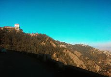Hill top. Mountain area clear sky royalty free stock image