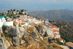 Hill Top Town. Rural hill top Andalusian Town in Southern Spain Stock Image