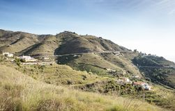 Hill top view of Almunecar. Landscape image from the hill top looking out at Almunecar spain stock photography