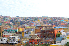 Hill top view of valparaiso chile skyline. Royalty Free Stock Photos