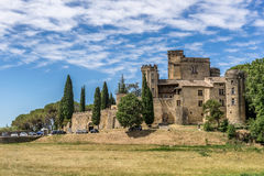 The hill top village of Menerbes Stock Photography