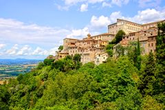 Hill towns of Italy. View over the old hill town of Todi, Umbria, Italy Royalty Free Stock Photography