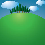 Hill with trees Royalty Free Stock Images