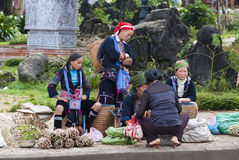 Hill tribal people in Vietnam Stock Image