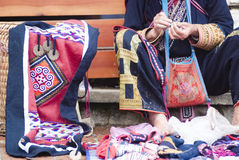 Hill tribal vendor Royalty Free Stock Photography
