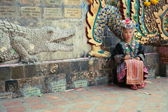 Hill tribe child. Ren at Doi Suthep Chiangmai Royalty Free Stock Photos