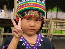 Hill Tribe Child wanting peace Stock Images