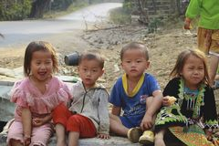 Hill tribe children Royalty Free Stock Photo
