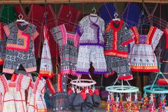 Hill tribe cloths stock image