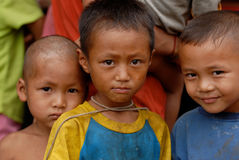 Hill Tribe Kids Royalty Free Stock Photo