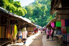 Hill tribe shops royalty free stock photos