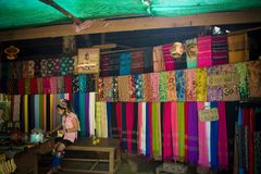 Hill tribe shops stock image