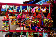 Hill tribe souvenir. Shop sell at Mae Salong market, Chiang Rai, Thailand stock image