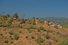 Hill tribe village. High mountain;remote area royalty free stock photos