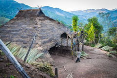 Hill tribe village. In thailand stock image