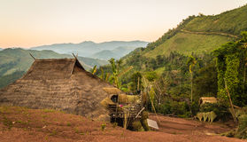 Hill tribe village. Stock Images
