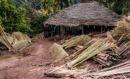 Hill tribe village. Royalty Free Stock Images