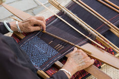 Hill tribe weaving traditional clothes pattern Stock Image