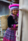 Hill tribe woman portrait Stock Photography