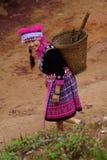 Hill tribe woman portrait. Beautiful hill tribe woman portrait full costume dress happy smile smart stock photography