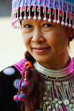 hill tribe woman portrait stock image