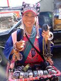 Hill Tribe Woman, Thailand. Royalty Free Stock Photos