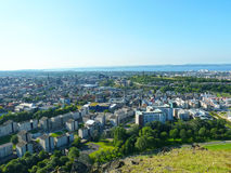 Hill view of the city of Edinburgh in Scotland. United Kingdom Stock Photos