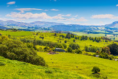 Hill view farm rural area Royalty Free Stock Photo