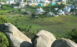 Hill view of indian town Stock Photography