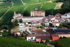 Hill vineyard near Barolo Stock Photo