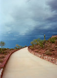 Hill Walkway. Sonora desert in central Arizona USA Royalty Free Stock Photography