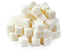 Hill of white lumpy sugar Royalty Free Stock Images