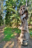 Hill of Witches. Juodkranté. Lithuania. The Hill of Witches is an outdoor sculpture gallery near Juodkrantė, located on a forested sand dune stock image