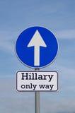 Hillary, единственный путь на будущее стоковые фото
