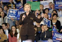 Hillary at the Campaign Stop. Hillary Clinton Rally for Presidential Campaign royalty free stock photo