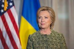 Hillary Clinton à l'Assemblée générale de l'ONU à New York Photos stock