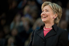 Hillary Clinton - 2 de sourire horizontaux photos stock