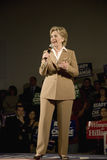 Hillary Clinton,. U.S. Senator, Former First Lady and Presidential Candidate, Hillary Clinton, speaking at rally after Iowa Democratic Presidential Debate, Drake royalty free stock photo