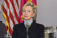 Hillary Clinton. At a press conference royalty free stock images