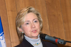 Hillary Clinton Stockbild