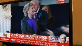 Hillary Clinton anförande, når att ha lossat val stock video