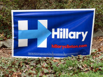 Hillary Clinton Campaign Poster Royalty Free Stock Images
