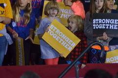 Hillary Clinton campaigning in the great hall Heinz Field Pittsb Stock Image