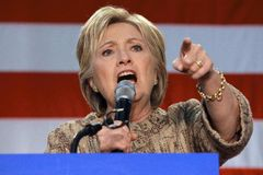Hillary Clinton Campaigns for Presidency at SW College Los Angel royalty free stock photo